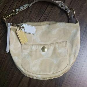 Coach Scribble Hobo Style Fabric Handbag M05J-132